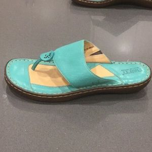 Born Turquoise Leather Sandals